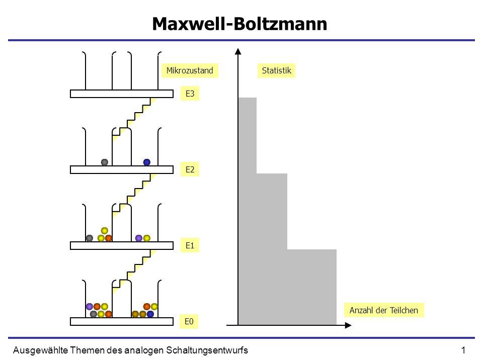 1Ausgewählte Themen des analogen Schaltungsentwurfs Maxwell-Boltzmann Anzahl der Teilchen Statistik E0 E1 E2 E3 Mikrozustand