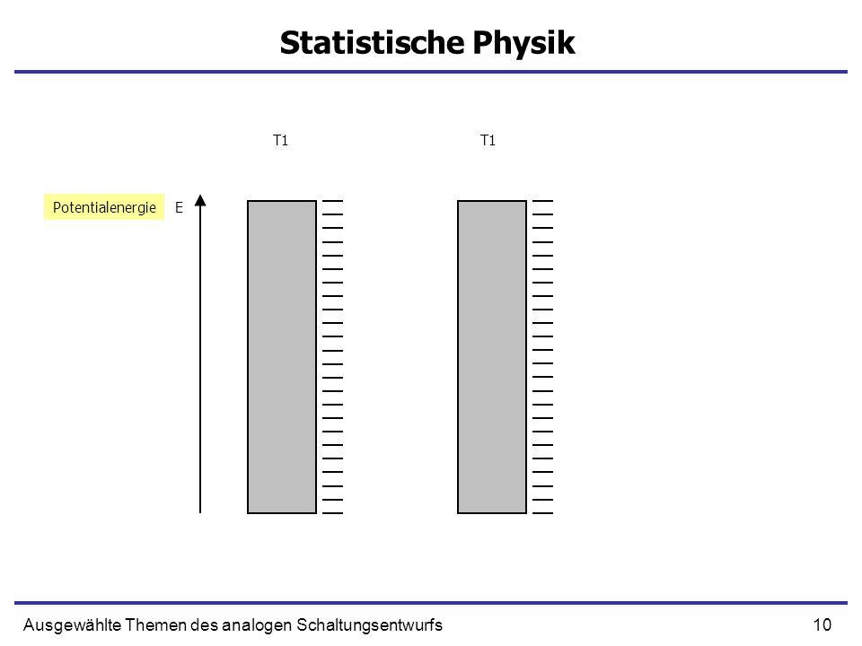 10Ausgewählte Themen des analogen Schaltungsentwurfs Statistische Physik EPotentialenergie T1