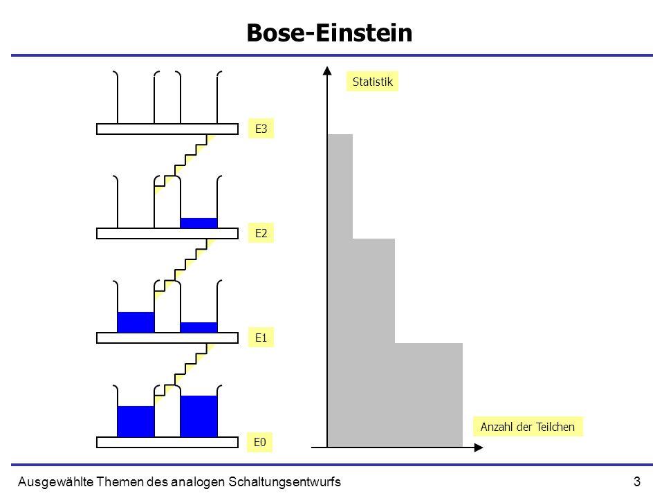 3Ausgewählte Themen des analogen Schaltungsentwurfs Bose-Einstein Anzahl der Teilchen Statistik E0 E1 E2 E3