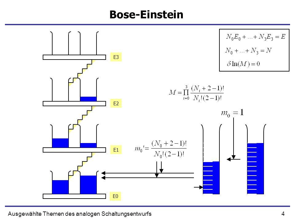 4Ausgewählte Themen des analogen Schaltungsentwurfs Bose-Einstein E0 E1 E2 E3