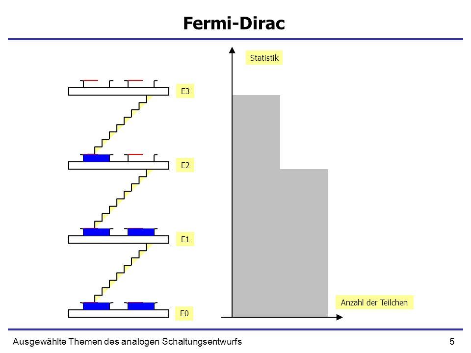 5Ausgewählte Themen des analogen Schaltungsentwurfs Fermi-Dirac Anzahl der Teilchen Statistik E0 E1 E2 E3