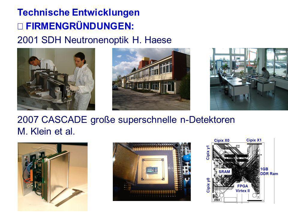 Hartmut Abele, University of Heidelberg 16 Technische Entwicklungen UHD Neutrograph, Radio- und Tomographiestation