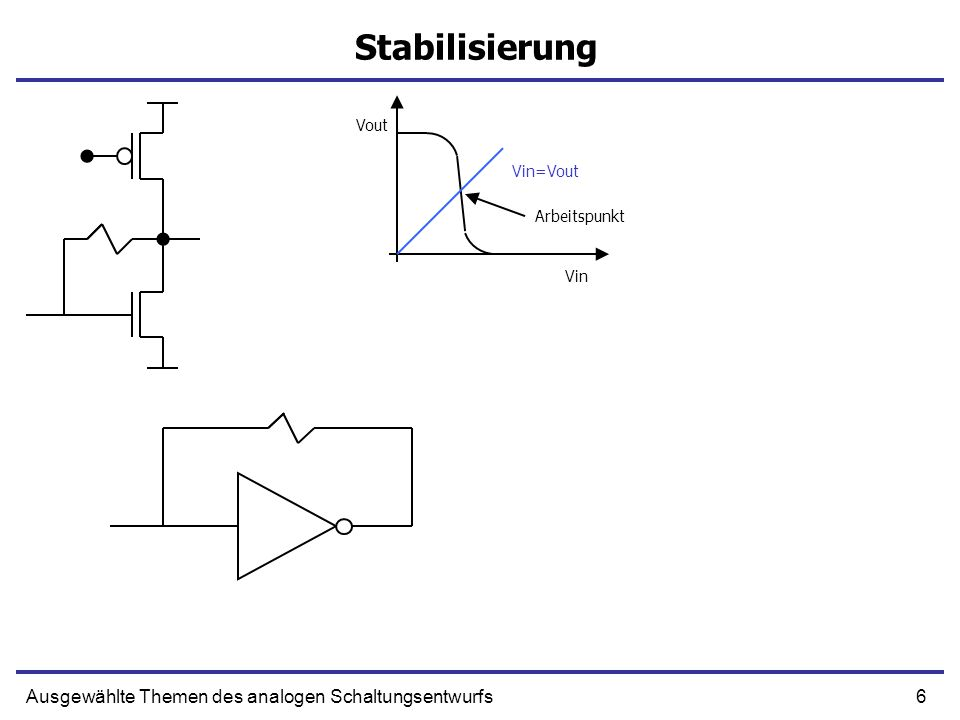 47Ausgewählte Themen des analogen Schaltungsentwurfs Differentieller Verstärker 1