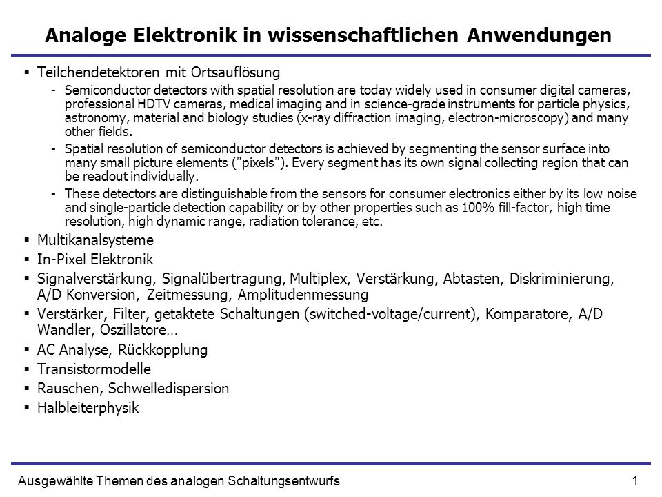 12Ausgewählte Themen des analogen Schaltungsentwurfs Hybride Detektoren 3D-integration is a technology that allows for both vertical and horizontal connection between electronic components placed on different chips (thinned dies) stacked vertically.