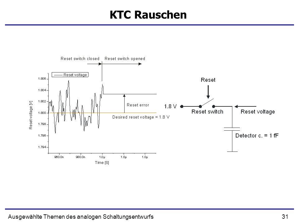 31Ausgewählte Themen des analogen Schaltungsentwurfs KTC Rauschen