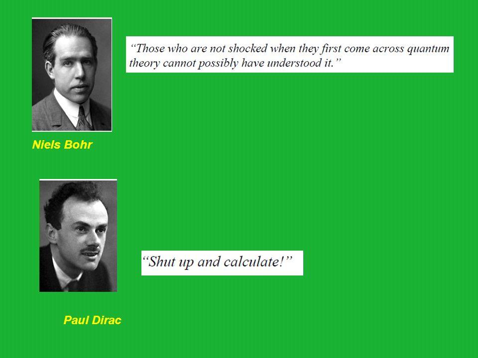 Niels Bohr Paul Dirac