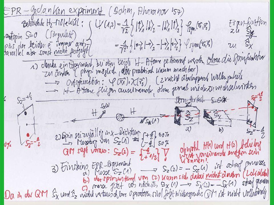 Bell : wie gross ist die Korrelation zwischen den beiden Polarisationsmessungen.