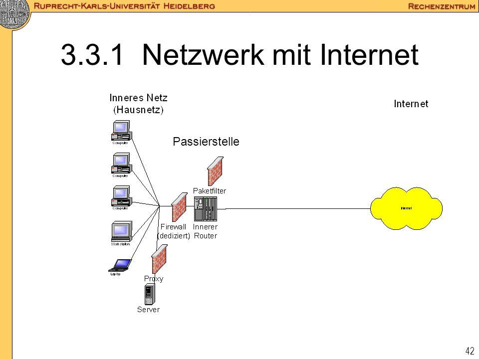42 3.3.1 Netzwerk mit Internet Passierstelle