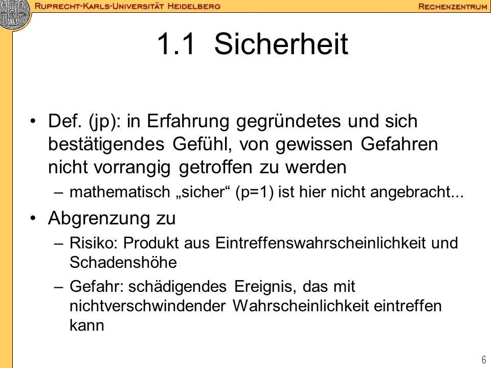 37 3.2.4.3 Filterliste - Prinzip 1 .in - was darf vom Subnetz in die Welt: .