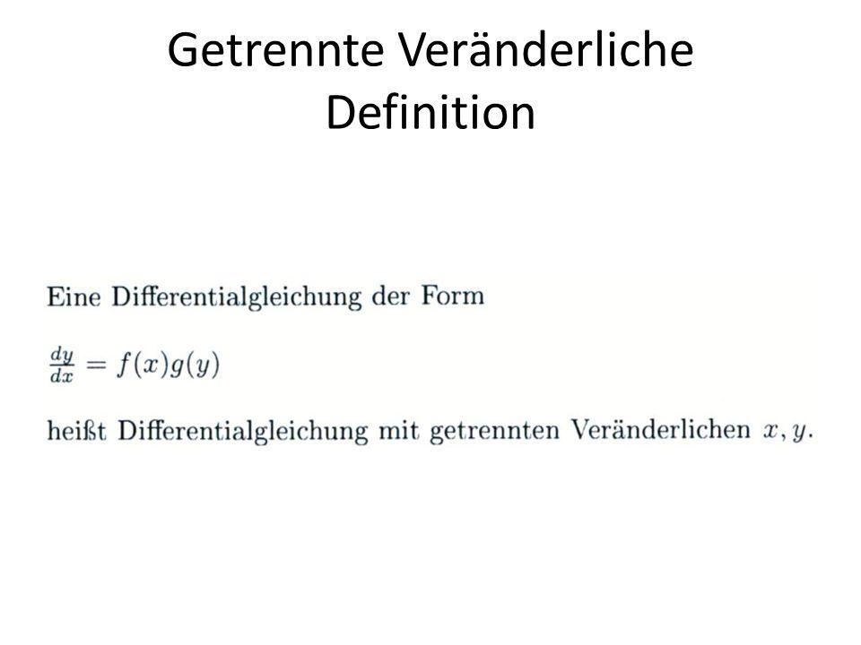 Getrennte Veränderliche Definition