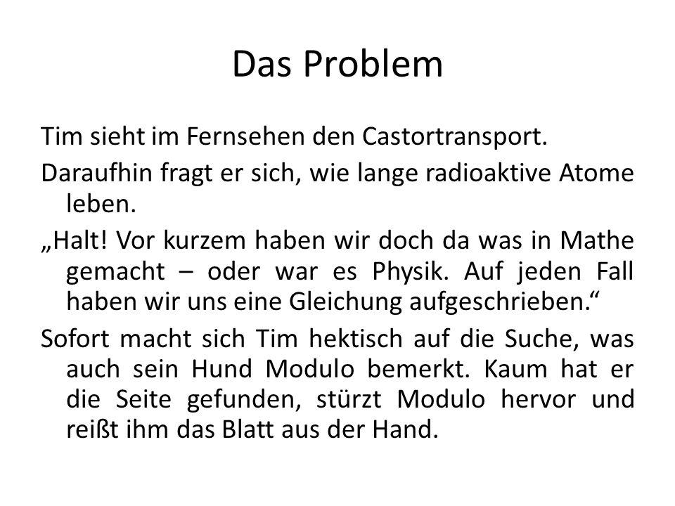 Das Problem Tim sieht im Fernsehen den Castortransport.