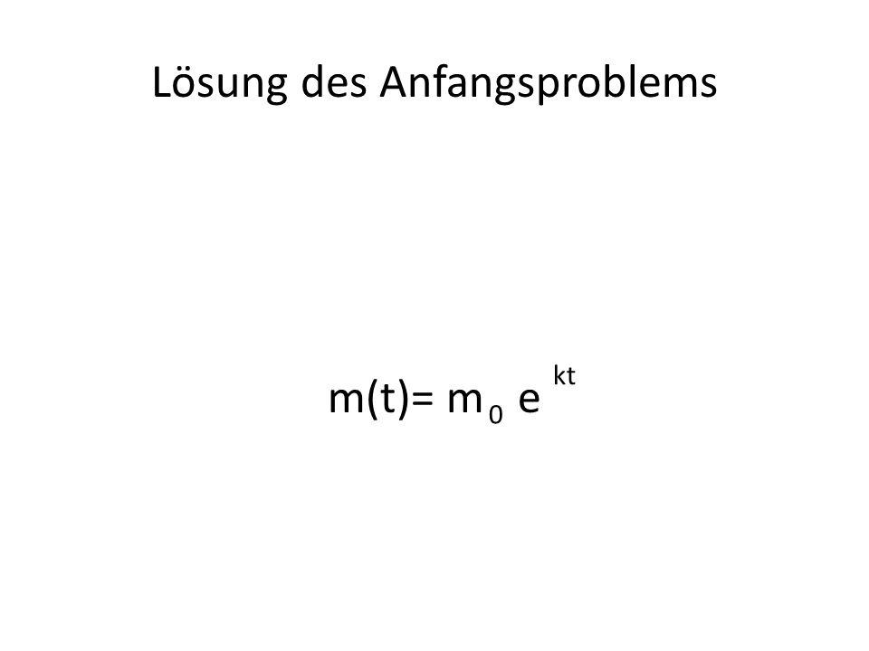 m(t)= m e 0 kt