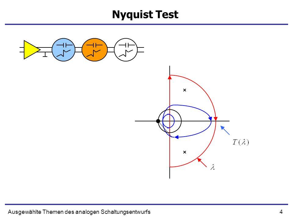 4Ausgewählte Themen des analogen Schaltungsentwurfs Nyquist Test