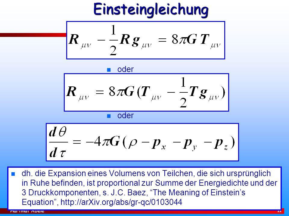 Hartmut Abele 11 Einsteingleichung n dh.