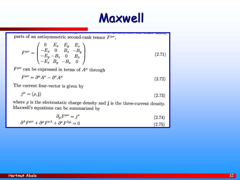 Hartmut Abele 12 Maxwell