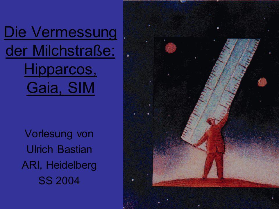 Die Vermessung der Milchstraße: Hipparcos, Gaia, SIM Vorlesung von Ulrich Bastian ARI, Heidelberg SS 2004