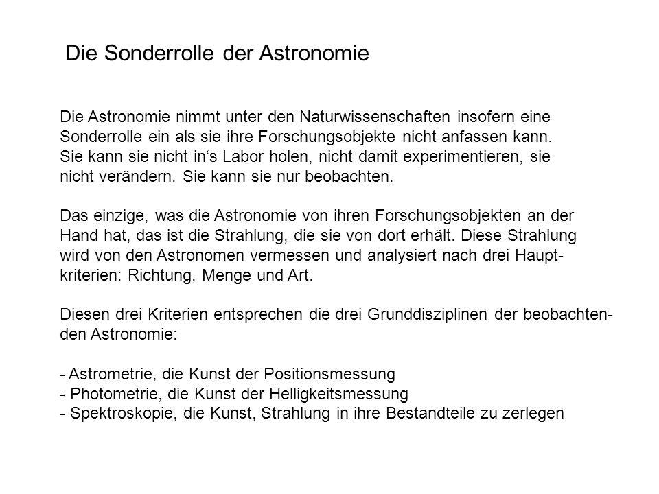 zu guter Letzt: Astrometrische Messungen machen zwar sehr direkt einsehbare Aussagen.