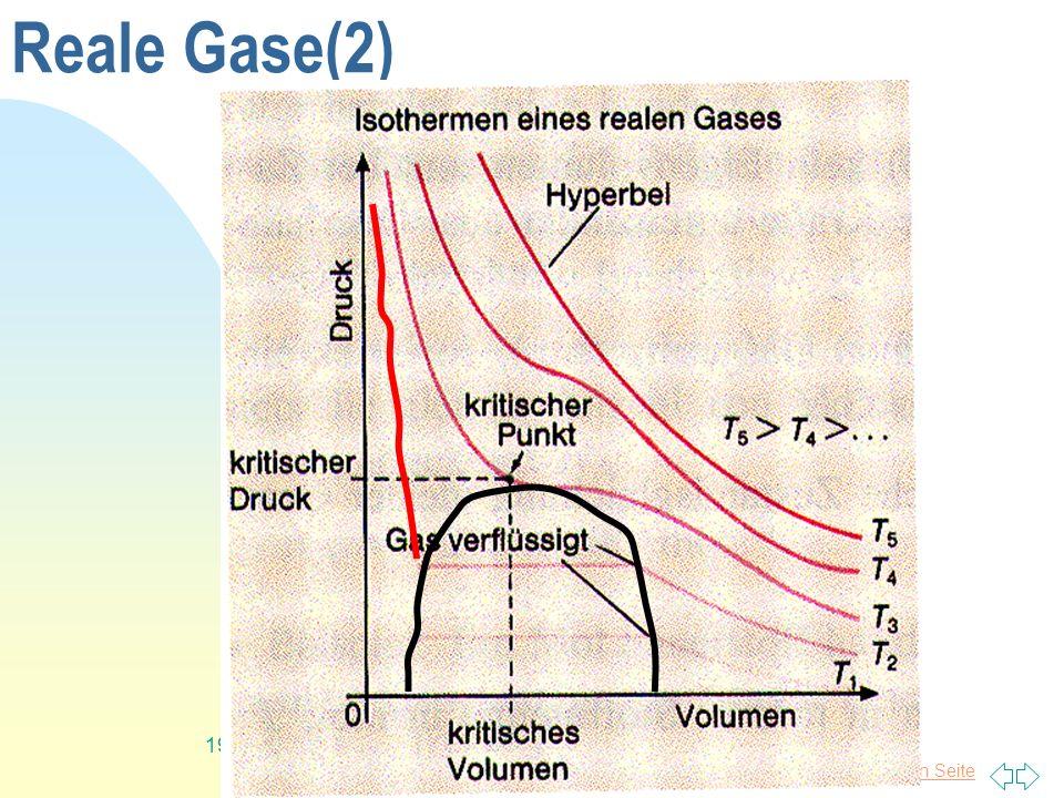 Zurück zur ersten Seite 19 Reale Gase(2)