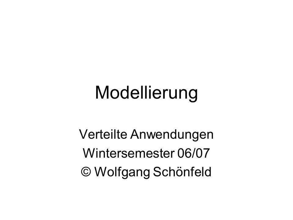 Modellierung Verteilte Anwendungen Wintersemester 06/07 © Wolfgang Schönfeld