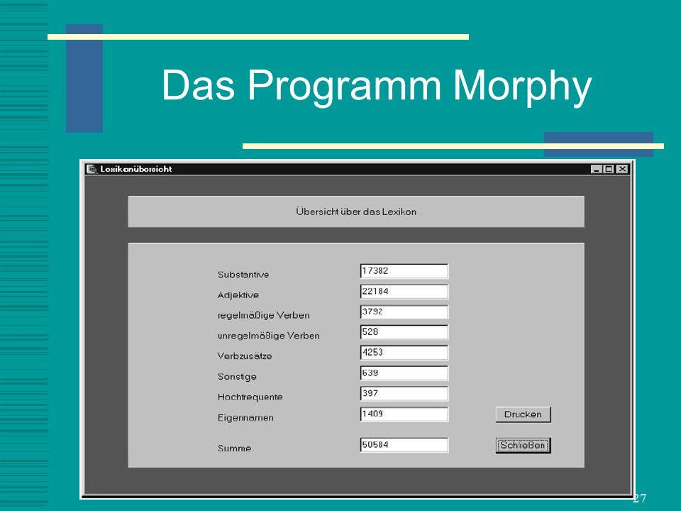 27 Das Programm Morphy