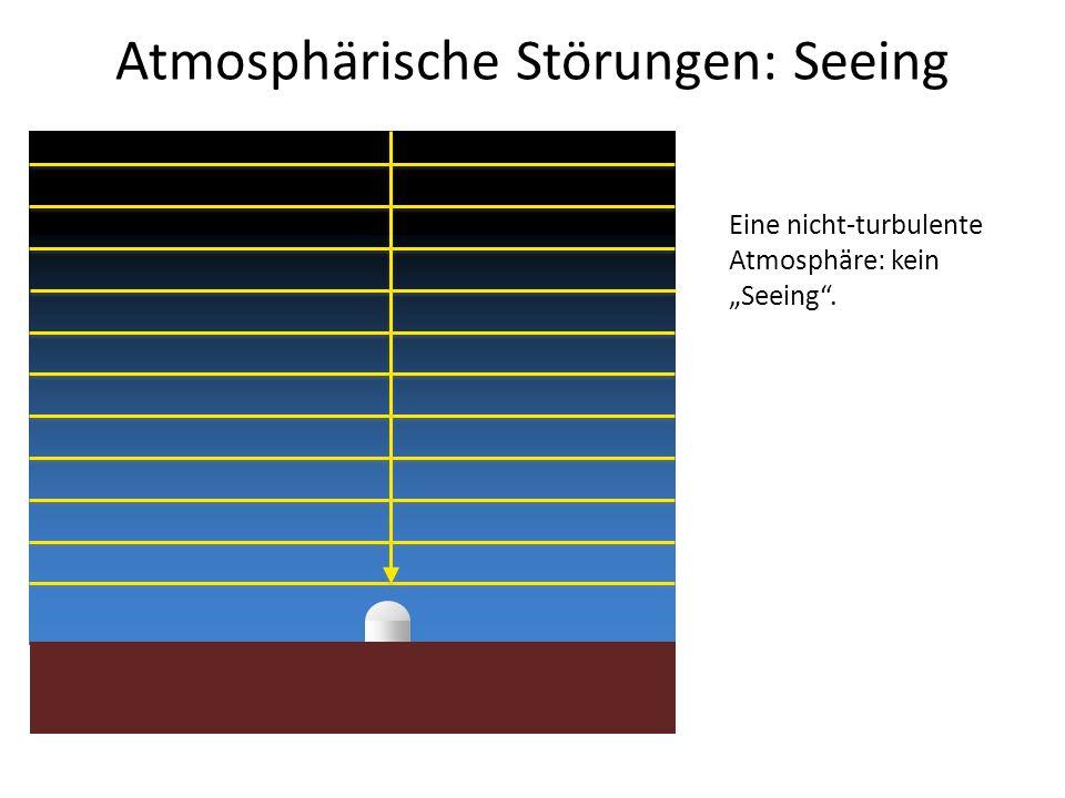 Atmosphärische Störungen: Seeing Eine nicht-turbulente Atmosphäre: kein Seeing.