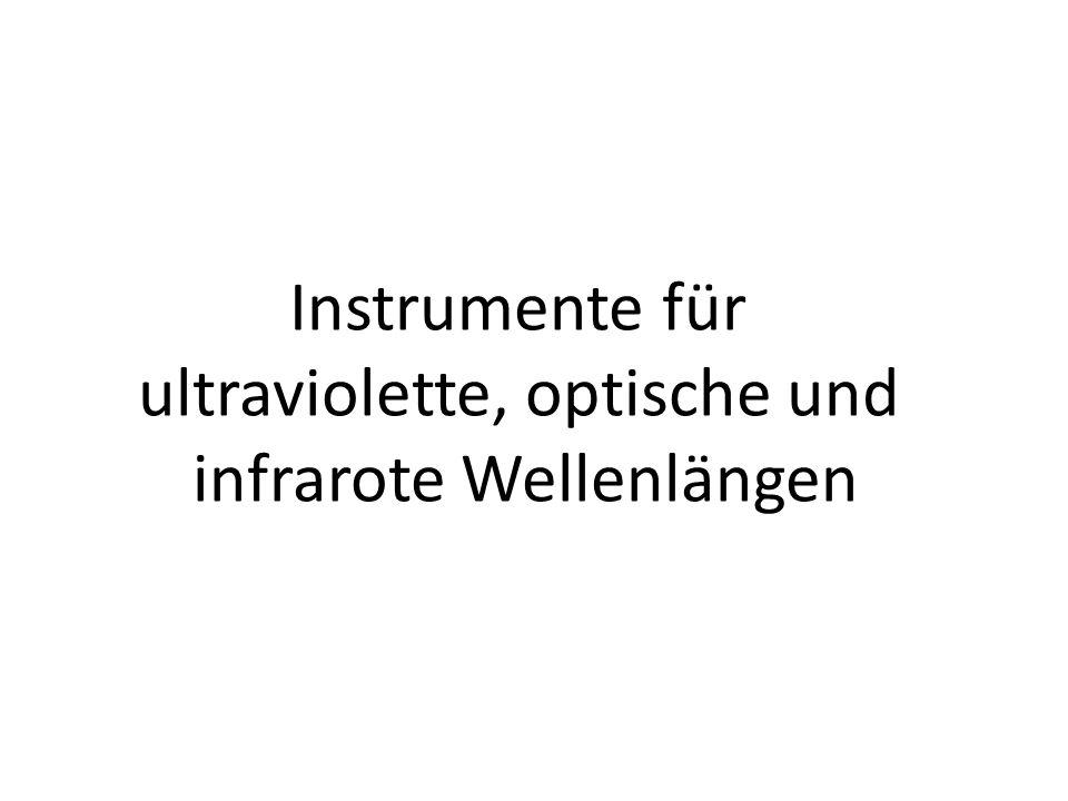 Instrumente für ultraviolette, optische und infrarote Wellenlängen