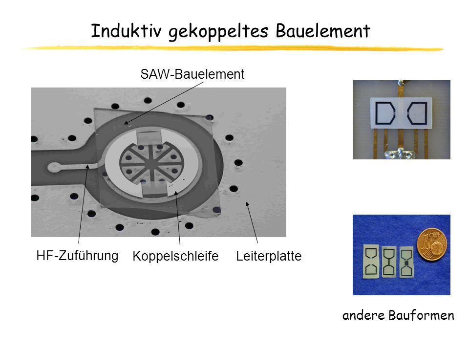 Induktiv gekoppeltes Bauelement HF-Zuführung SAW-Bauelement KoppelschleifeLeiterplatte andere Bauformen