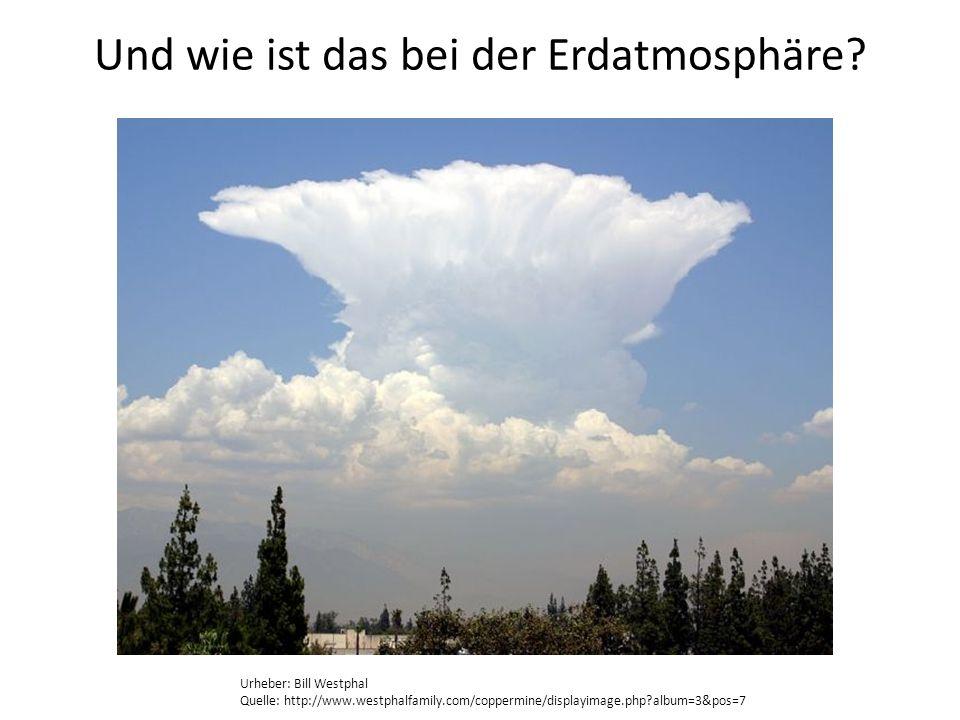 Und wie ist das bei der Erdatmosphäre? Urheber: Bill Westphal Quelle: http://www.westphalfamily.com/coppermine/displayimage.php?album=3&pos=7
