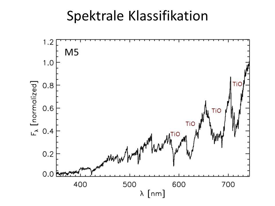 Spektrale Klassifikation M5 TiO