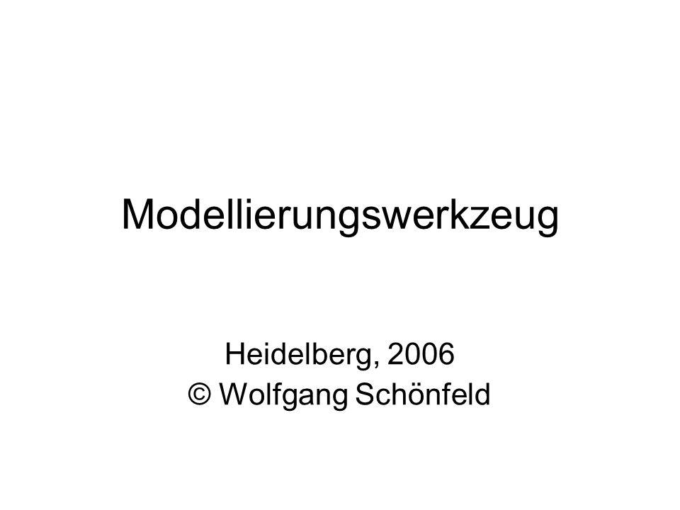 Modellierungswerkzeug Heidelberg, 2006 © Wolfgang Schönfeld