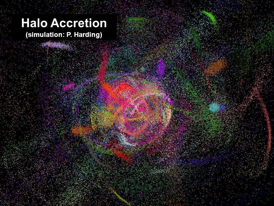 Halo accretion (Harding image) Halo Accretion (simulation: P. Harding)