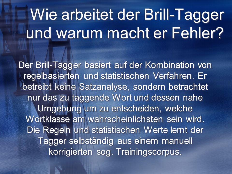 1.Das Vorgehen des Taggers 1.1. Nachschlagen im Lexikon 1.2.