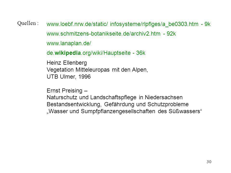 30 Quellen : www.loebf.nrw.de/static/ infosysteme/rlpflges/a_be0303.htm - 9k www.schmitzens-botanikseite.de/archiv2.htm - 92k www.lanaplan.de/ de.wiki