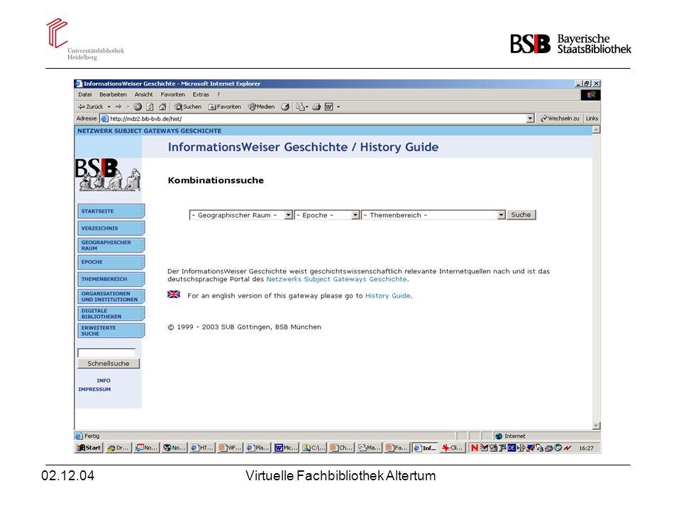 02.12.04Virtuelle Fachbibliothek Altertum