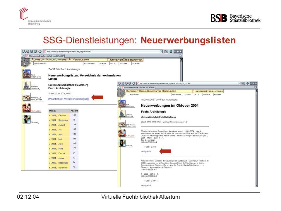02.12.04Virtuelle Fachbibliothek Altertum Suchfelder