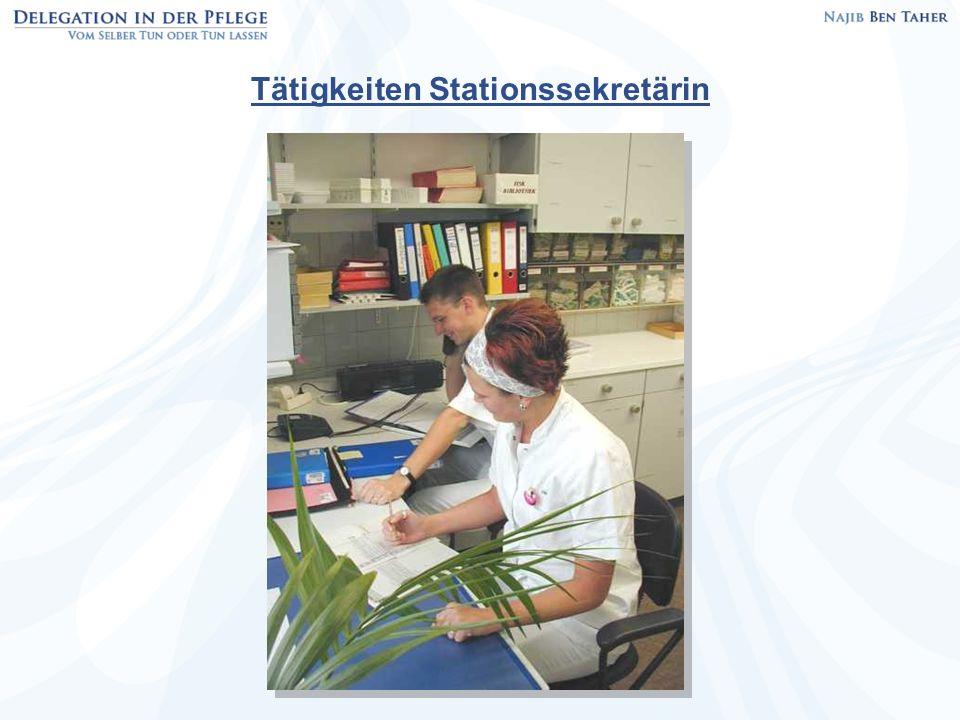 Tätigkeiten Stationssekretärin