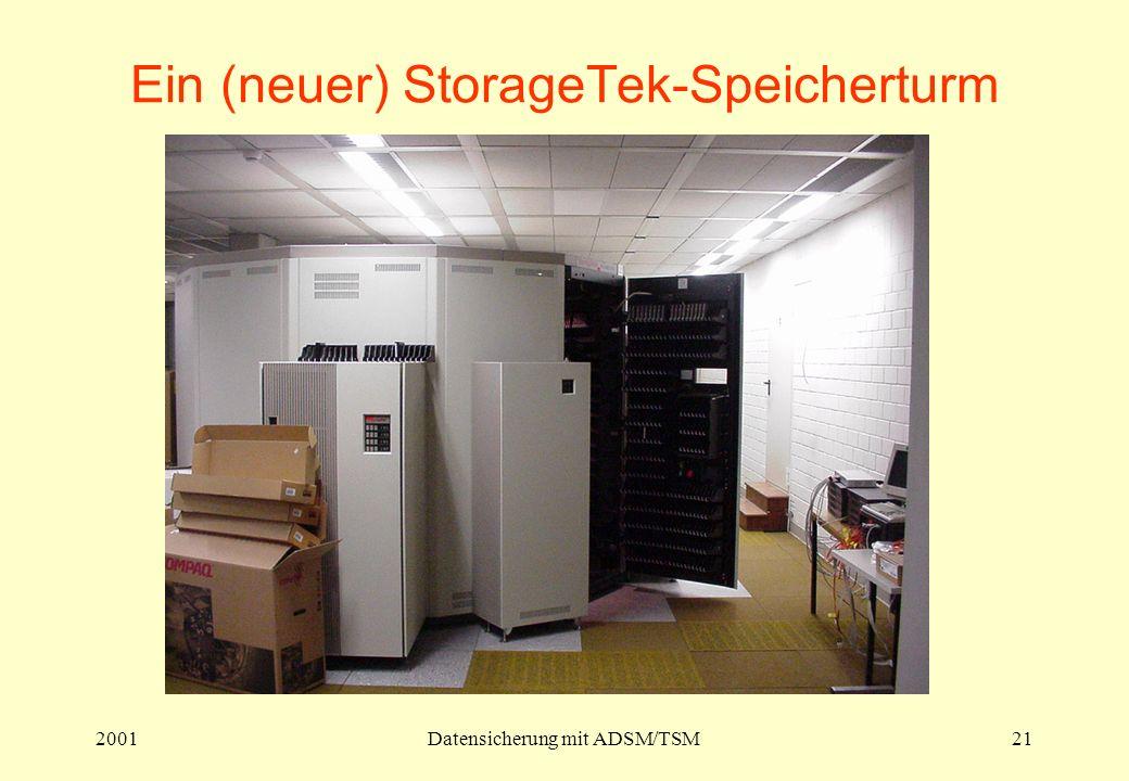 2001Datensicherung mit ADSM/TSM21 Ein (neuer) StorageTek-Speicherturm