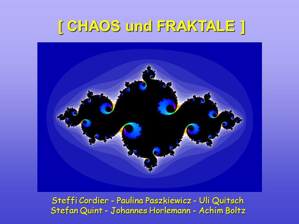 [ CHAOS und FRAKTALE ] Steffi Cordier - Paulina Paszkiewicz - Uli Quitsch Stefan Quint - Johannes Horlemann - Achim Boltz