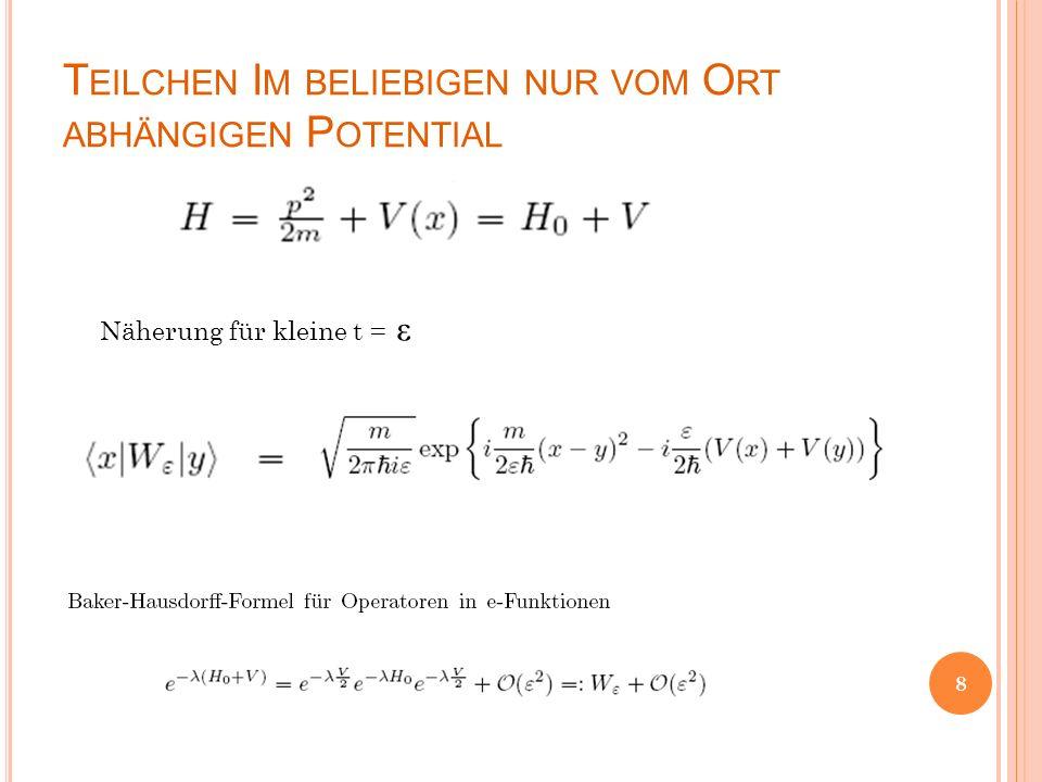 E RWEITERUNG AUF BELIEBIGE Z EITEN Die Zeit im unendlich viele infinitesimale Zeitabschnitte unterteilt, analog dem Riemannintegral.