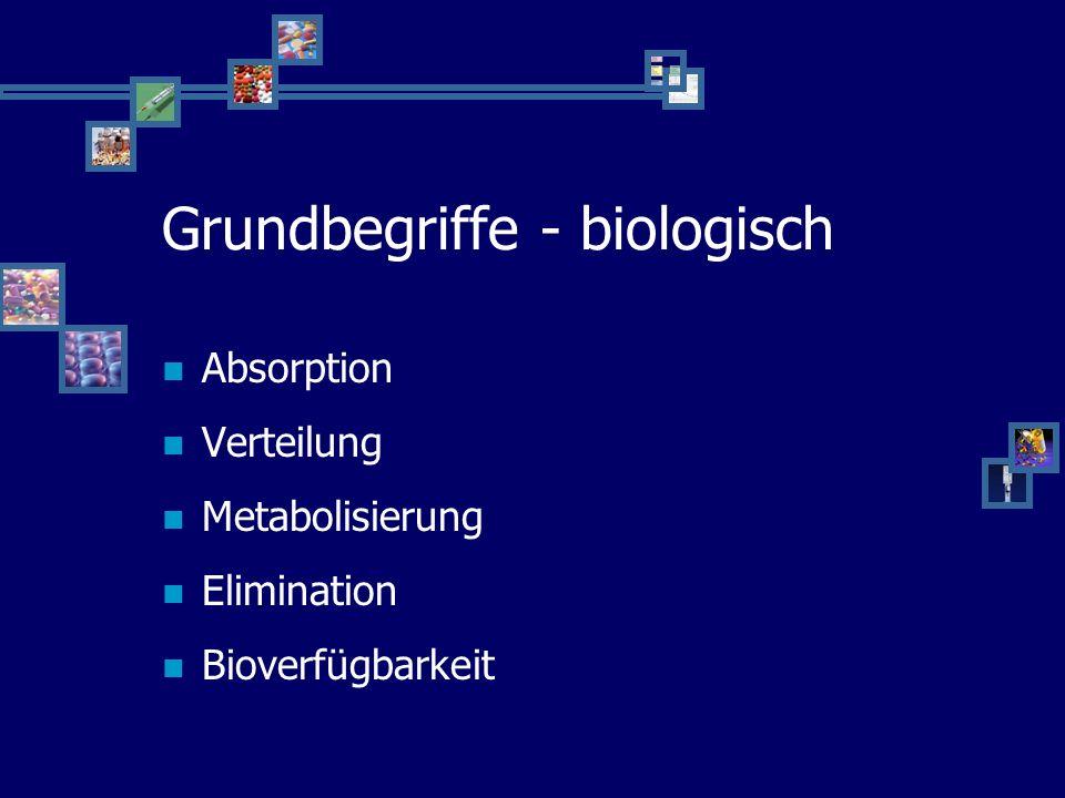 Pharmakokinetik - Relevanz Entwicklung neuer Therapeutika Evaluierung eines optimalen Dosierungsschemas Pharmakokinetik