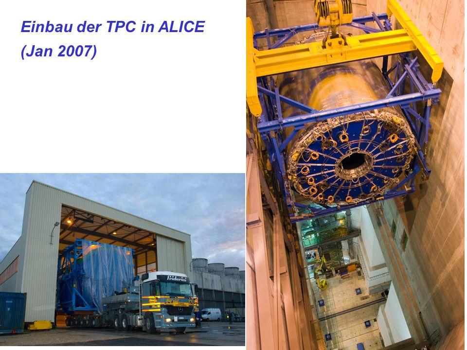 Nacht der Wissenschaft, Physikalisches Institut, Nov 10, 2007 Kai Schweda 13 Time Projection Chamber (TPC) mit 95 m 3 größte je gebaute TPC 3-dimensionale Kamera Präzision besser als 500 m insgesamt 560 Millionen Pixel bis zu 200 Bilder pro Sekunde