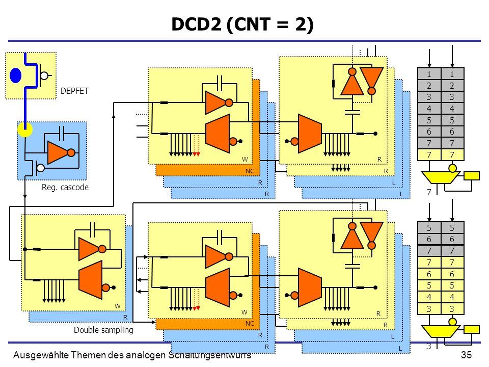 35Ausgewählte Themen des analogen Schaltungsentwurfs DCD2 (CNT = 2) Reg.