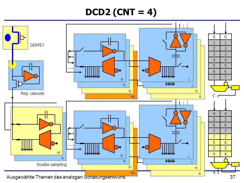 37Ausgewählte Themen des analogen Schaltungsentwurfs DCD2 (CNT = 4) Reg.