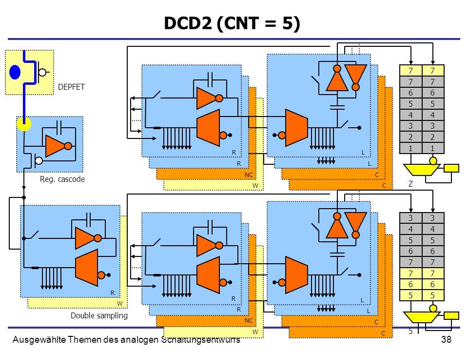 38Ausgewählte Themen des analogen Schaltungsentwurfs DCD2 (CNT = 5) 77 Reg.