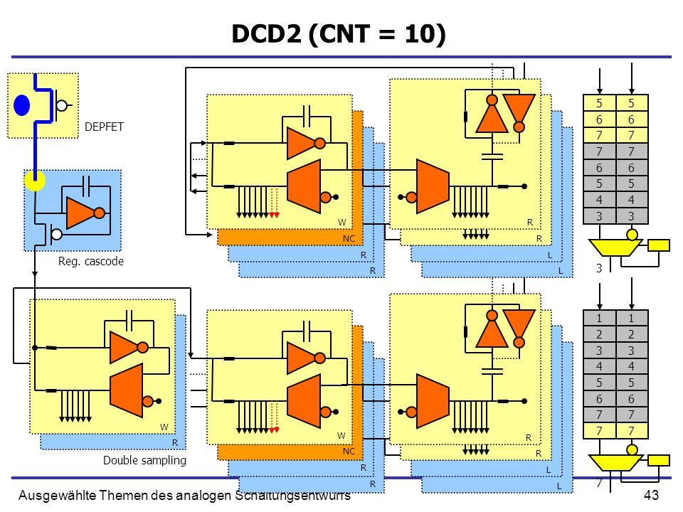 43Ausgewählte Themen des analogen Schaltungsentwurfs DCD2 (CNT = 10) Reg.