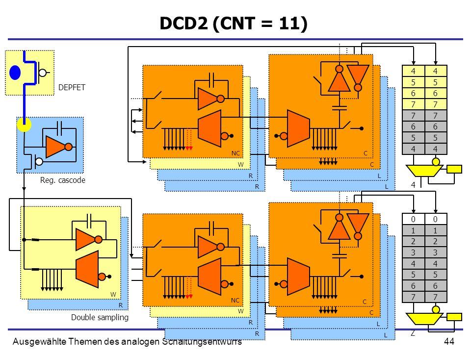 44Ausgewählte Themen des analogen Schaltungsentwurfs DCD2 (CNT = 11) Reg.