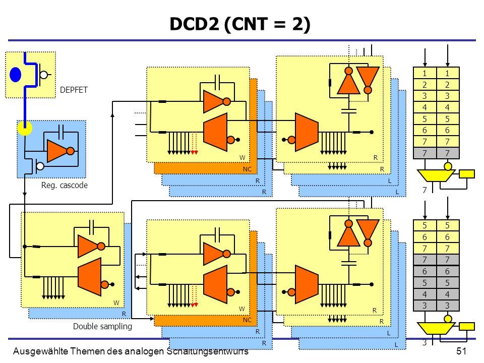 51Ausgewählte Themen des analogen Schaltungsentwurfs DCD2 (CNT = 2) Reg.