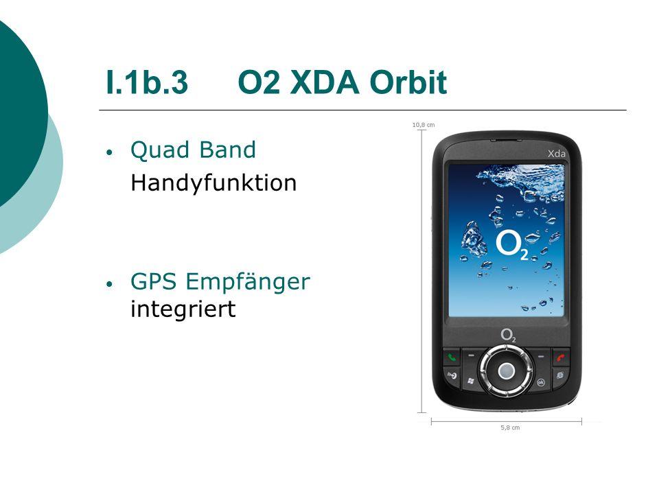 I.1b.3O2 XDA Orbit Quad Band Handyfunktion GPS Empfänger integriert