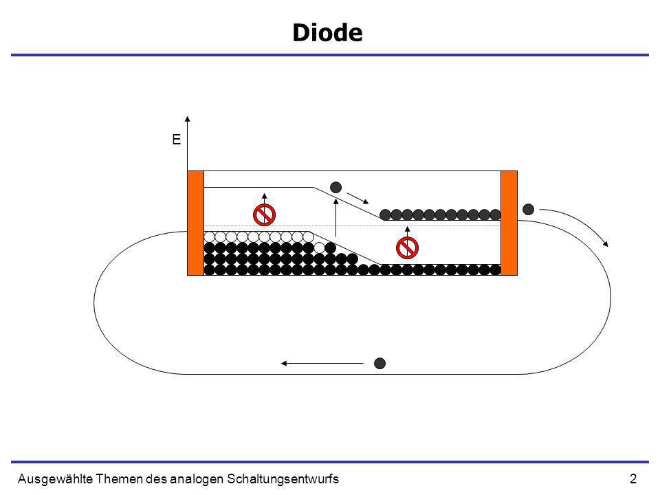 2Ausgewählte Themen des analogen Schaltungsentwurfs Diode E