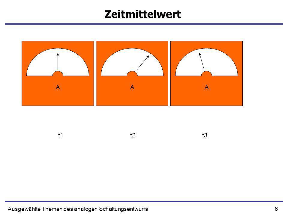 17Ausgewählte Themen des analogen Schaltungsentwurfs Beispiel t = 0, on t = T, off